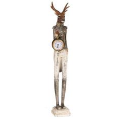 statue cerf allong pendule flanelle et ficelle clayre. Black Bedroom Furniture Sets. Home Design Ideas